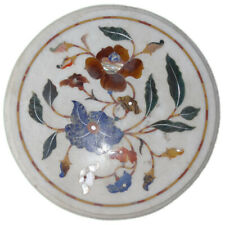 """12""""x 12"""" Marble Side Table Top Inlay Art Pietra Dura Stone Inlay Workmanship New"""