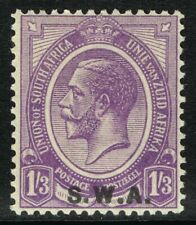 SG 56 SOUTH WEST AFRICA 1927 - 1/3d PALE VIOLET - MOUNTED MINT