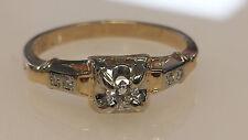 Vintage 14k YG Ladies Engagement Ring Pinky Ring #I235