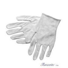 COTTON WHITE LISLE INSPECTION MEN GLOVES 12 PAIRS