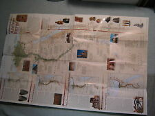 ANCIENT EGYPT WALL MAP + THE EGYPTIANS National Geographic April 2001 MINT