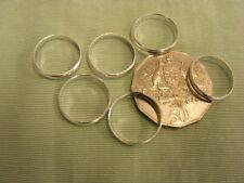 Wedding Rings  Silver - Pkt 12