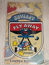 DISNEYLAND DONALD DUCK FLY AWAY PIN LIMITED EDITION 1 of 1000 in RETIRED 2008