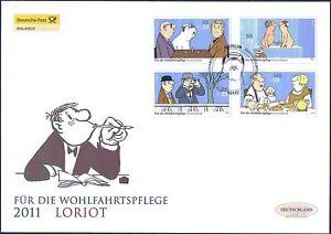 BRD 2011: Loriot Post-Wohlfahrt-FDC der Nr 2836-2839 mit Berliner Stempel! 21-09