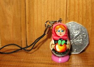 RUSSIAN DOLL Mobile Phone Handbag Charm hand painted Gift Bag Stocking filler