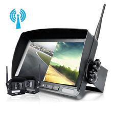 """2x DIGITAL Kabellos Auto Rückfahrkamera Funk 7"""" LCD Split Monitor LKW RV 12V 24V"""