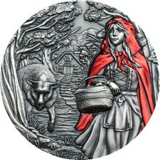 Cook Islands 2019 20$ Little Red Riding Hood 3oz Silver Coin