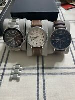 Timex Watch Lot Weekender Harborside Southview Multifunction Mens Steel Leather