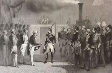 Louis-Napoléon Bonaparte Napoléon III Réception 1852 gravure 1853 estampe Empire