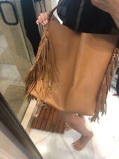 Jessica Simpson  Boho Tan  Vegan Leather Fringed Shoulder Bag / Tote /Handbag