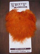 Fly Tying-Whiting Spey Hackle Hen Saddle Burnt Orange #C