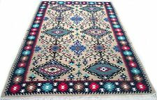 """Antique vintage tribal handmade hand-knotted kilim rug  60"""" x 98"""" pure wool  #2A"""