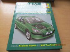 HAYNES  Peugeot 307 Petrol and Diesel .2001-2004, Y Reg ONWARDS.  ONE OWNER