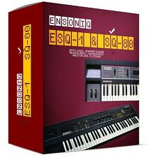 Ensoniq ESQ-1 SQ-80 for VST AU 32 and 64 bit Sample Library sounds samples