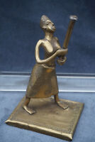 Antique Dogon Mali Timbuktu Tuareg Bronze Figure Sculpture Native African Woman