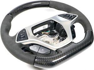 Genuine OEM GM C7 Corvette ZR1 Carbon Fiber & Suede Steering Wheel Automatic