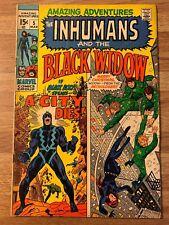 Amazing Adventures 5 (Marvel 1971) Black Widow~Inhumans~StanLee~Neal Adams~Movie