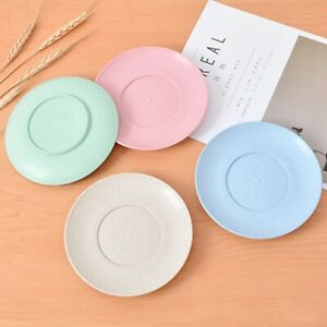 New Dessert Dish Wheat Straw Plate Kitchen Supplies Fruit Plate Fruit Plates 6N