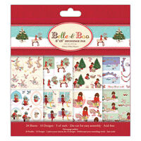 Beautiful Belle and Boo Christmas FSC Decoupage Pad for cards & crafts