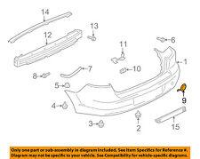 MITSUBISHI OEM 08-17 Lancer REAR BUMPER-Tow Bracket Cover 6410A436RA