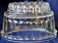 Vintage Art Deco 1930's Depression Glass Jelly Mold 18.5cm x11.5cm 11.5cm high