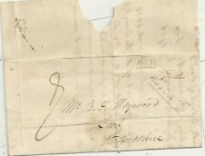 * 1832 COVENTRY PENNY POST & No 3 R/H OF BEDWORTH PART LETTER  B HEYWOOD AT LEEK