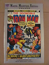 Marvel Milestone Edition Iron Man #55 Silver Reprint 1992 1st app Thanos & Drax