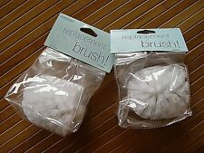 2 NEW CLEAR ACRYLIC TOILET BOWL BRUSHES BATHROOM BRUSH