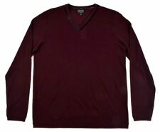GIORGIO ARMANI BLACK LABEL Burgundy Maroon V-Neck Sweater - EU 54 / XL