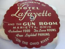 Vintage Hotel Lafayette & Gun Room OH 1954 - 1981 Perpetual Advertising Calendar