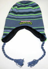 Nickelodeon TMNT Teenage MUTANT Ninja TURTLES knit Laplander striped BEANIE HAT