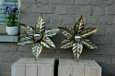 PAIR Hollywood regency WILLY DARO for Massive Wall lamps sconces flower 70s