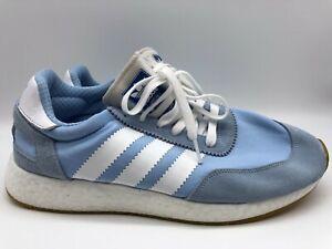 Adidas Women's I-5923 W  Glow Blue/Cloud White/Gum EE4949 Size 10.5