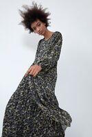 ZARA Metallic Thread Midi Dress SIZE XS NEW! SO PRETTY!!