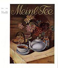Julius Meinl Wien Kaffee-Import von Otto Exinger Histor. Plakatentwurf Tee 1937