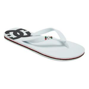 DC NEW Men's Spray Flip Flops - White / White / Black BNWT