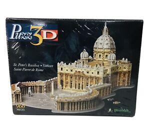 Puzz 3d St Peters Basilica Vatican Wrebbit Puzzle 966 Pieces New Damaged Box