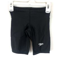 Speedo, Boy's Swimsuit Jammer Black Swimwear, Youth Size 4