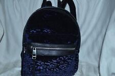 Madden Girl Navy King Leopard-embossed Velvet Mini Backpack 17ac93ffe3bc2