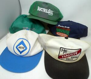 Lot 5 K-Products 90s made in USA Snapback Hat Cap Embroidery Patch Advertising