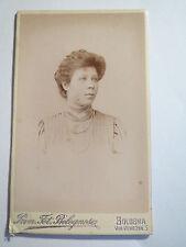 Bologna - 1908 - Hilde Hopfer als Frau im Kleid - Portrait / CDV