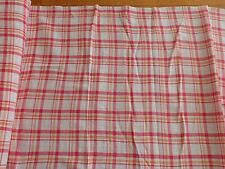 "Gauze Plaids Pink Orange and White Gauze Cotton Apparel Fabric BTY x 50""w"