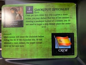 Smokepot Chainshot Specialist SE 153 | Pirates at the Ocean's Edge | WizKids |NM