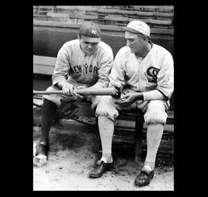 Babe Ruth Shoeless Joe Jackson PHOTO, New York Yankees, Chicago Black White Sox