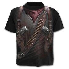 New Stylish 3D Military Tool Gun Printed Men's T-shirt Short Sleeve Summer Tees