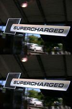 2 LOGO SUPERCHARGED LOOK CARBONE BLACK AUTOCOLLANT SKODA FABIA Praktik