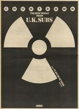 21/11/81PGN61 ADVERT: THE NEW SINGLE FROM U.K. SUBS COUNTDOWN 15X11