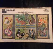 Burundi Stamps.  8 Butterfly and Flower .