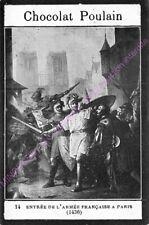 CHROMO CHOCOLAT POULAIN HISTOIRE Entrée de l armée française à Paris n 14