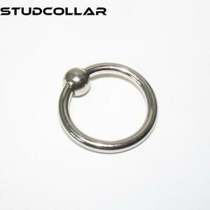 STUDCOLLAR-GLANS-RING - Stainless Steel Penis Ring and Ball in SEVEN SIZES !!